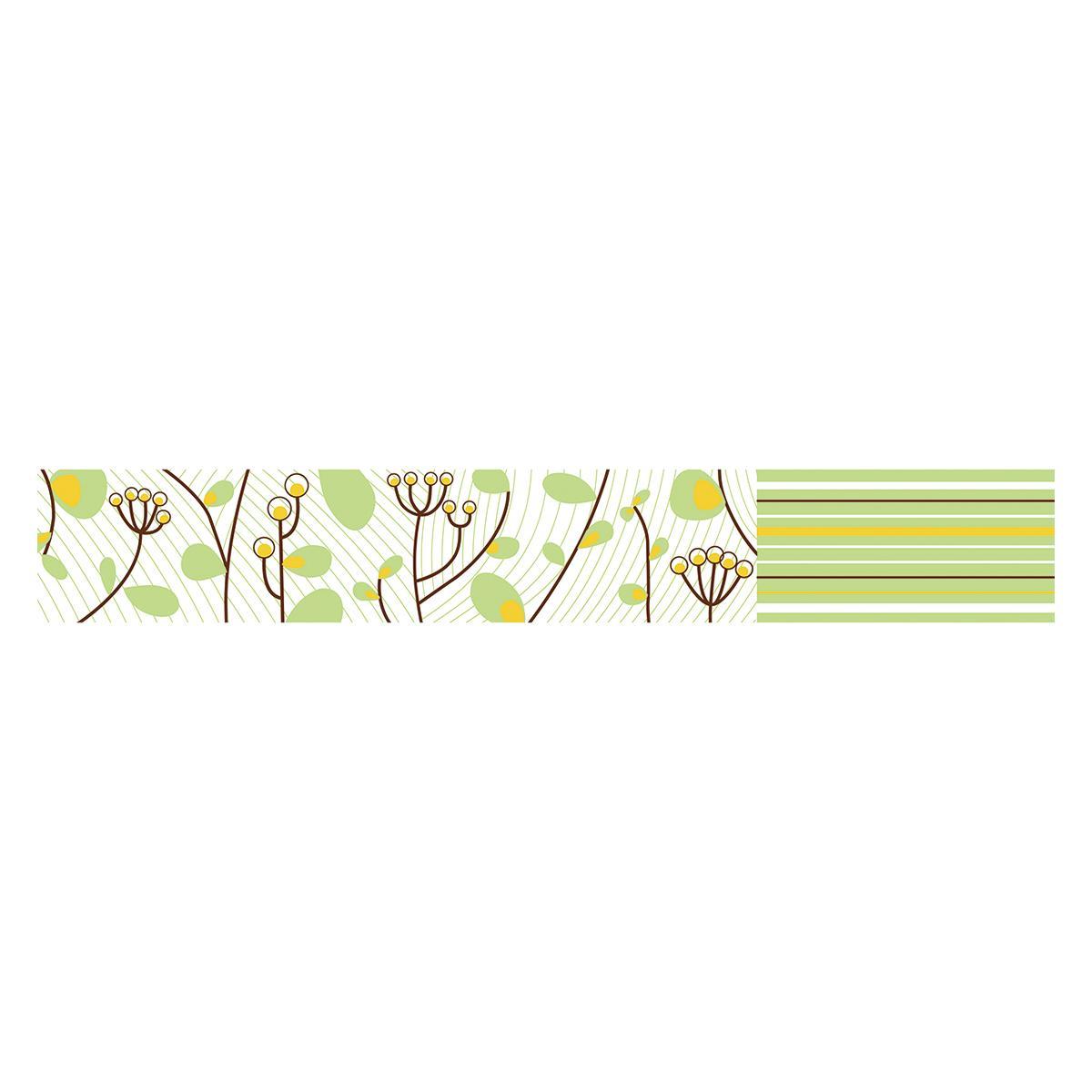 Listelo Tokio Verde Brillante - 6X39.5 cm - 1 pza