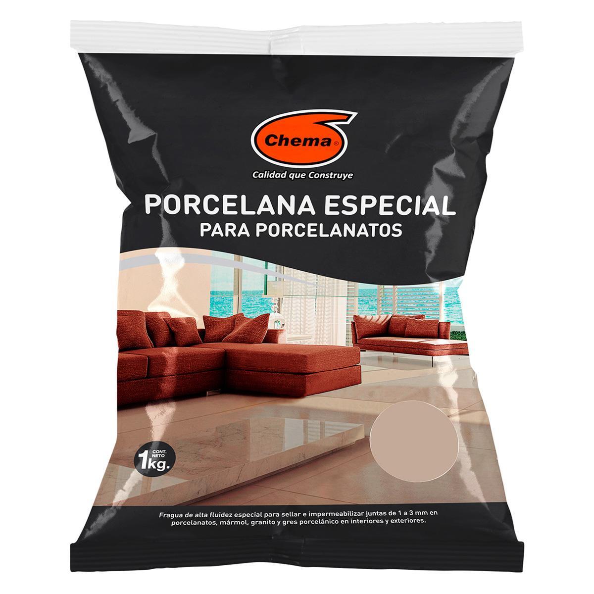 Fragua Corona Porcelana Especial Para Porcelanato 1 KG - Marrón