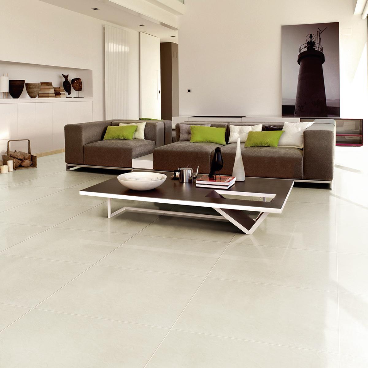Porcelanato Marmolizado Marfil Brillante - 60X60 cm - 1.44 m2