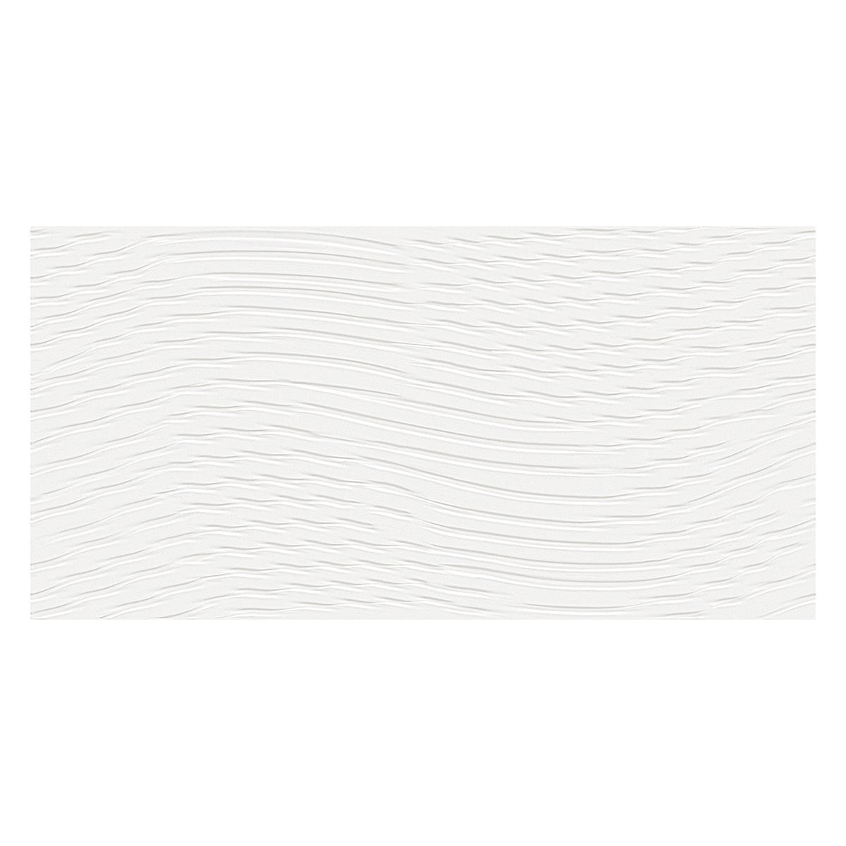 Mayólica Aquarela Ondas Blanco Brillante - 30X60 cm - 1.63 m2