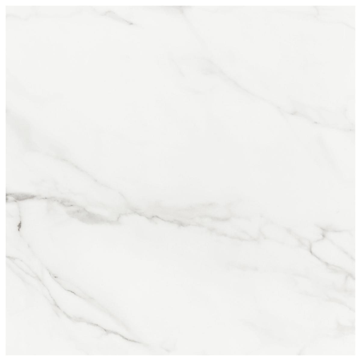 Porcelanato Carrara Blanco/Gris Brillante - 59X59 cm - 1.39 m2