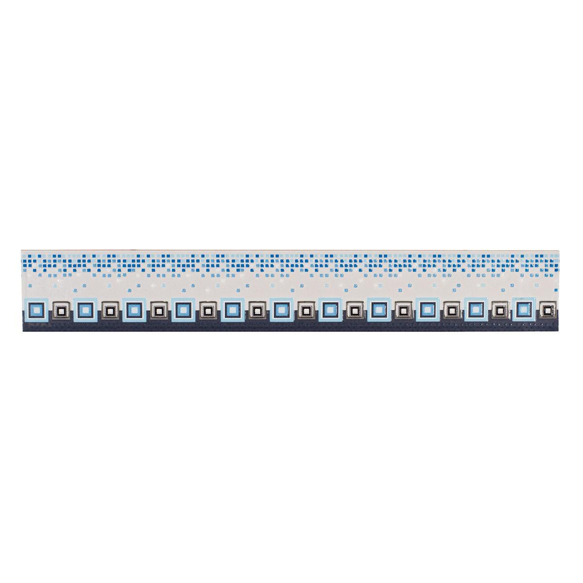 Listelo Cristel Azul Brillante - 6X39.5 cm - 1 pza