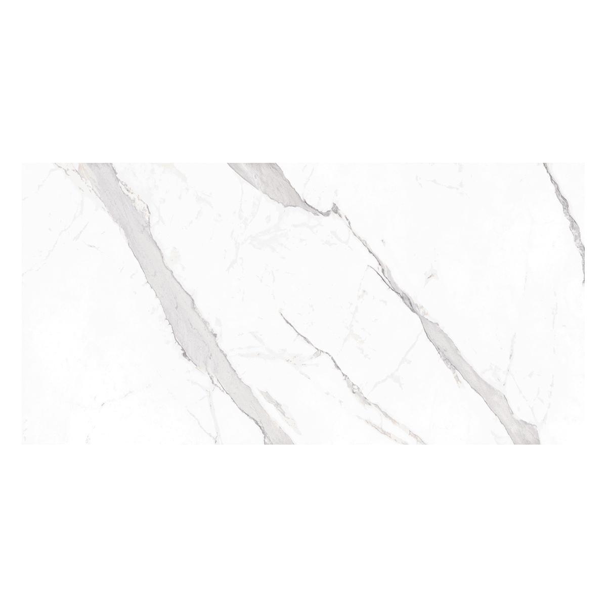 Porcelanato Statuary Blanco Brillante - 60X120 cm - 1.44 m2