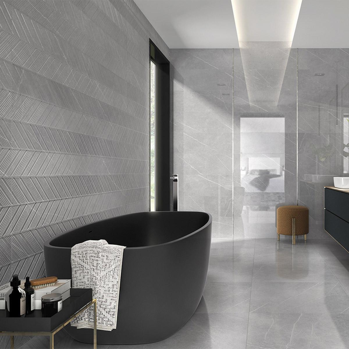 Mayólica Inari Concept Gris Brillante - 30X90 cm - 1.08 m2
