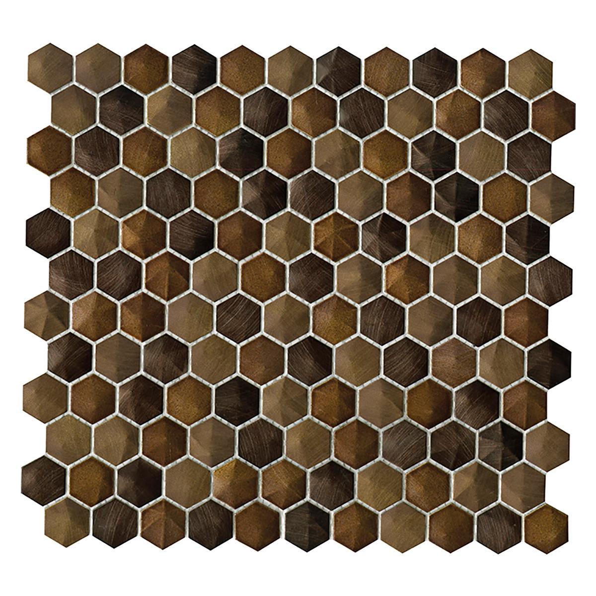 Mosaico Colors Marrón Mate - 28.5X30.5 cm - 1 pza