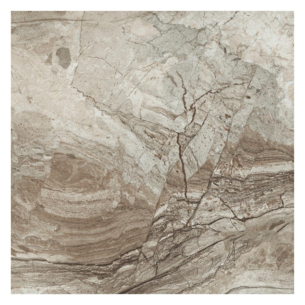 Porcelanato Namibe Noce Brillante - 60X60 cm - 1.44 m2