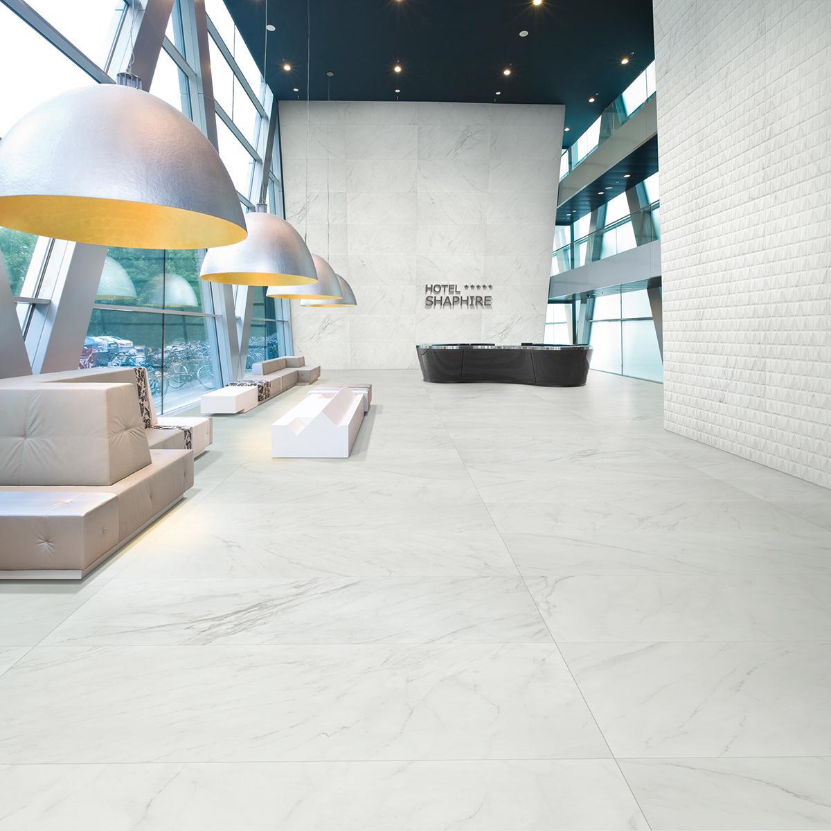 Porcelanato Evoque Blanco Mate - 75X150 cm - 1.12 m2
