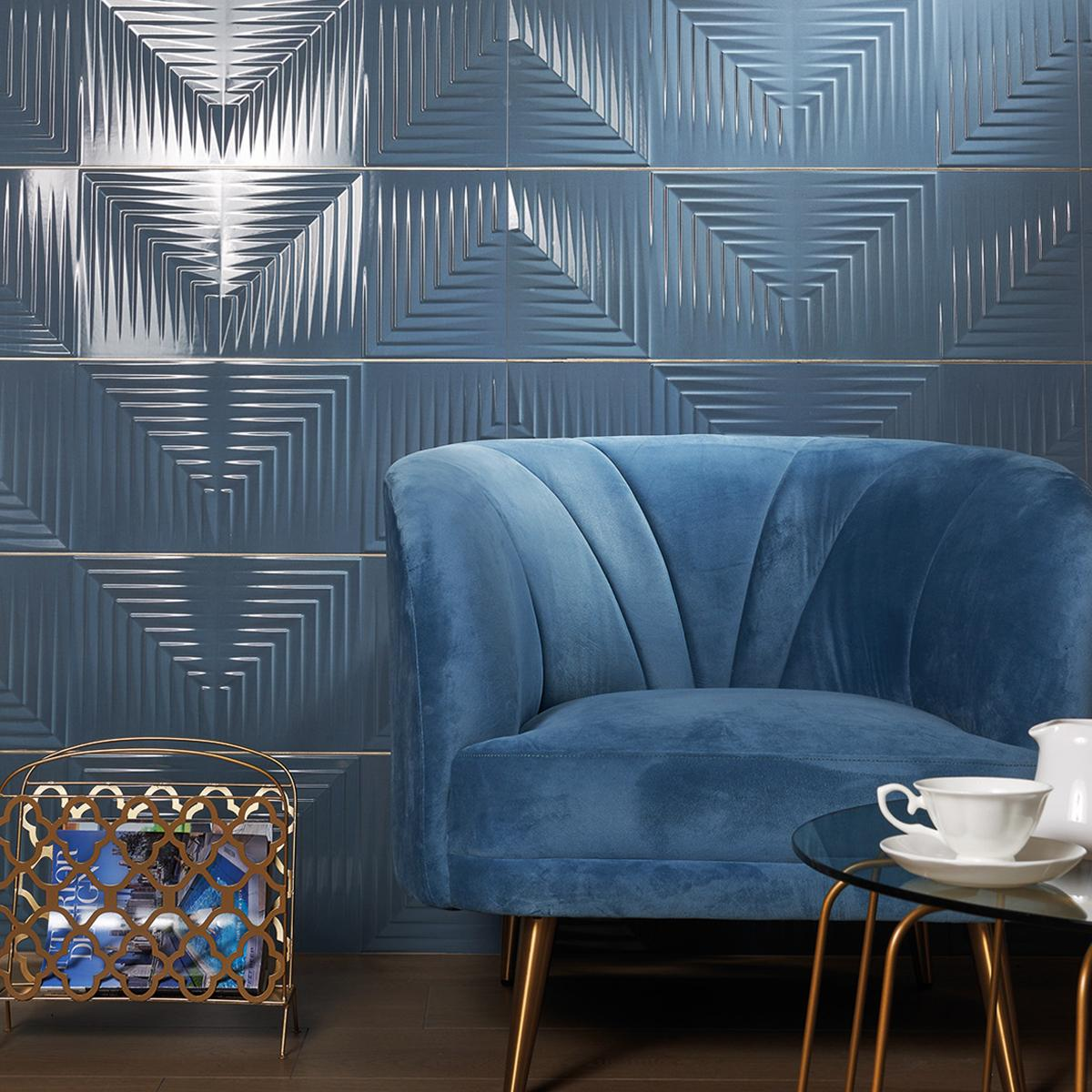 Mayólica Capitol Azul Brillante - 30X90 cm - 1.08 m2