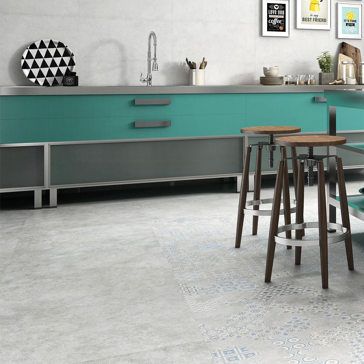 Porcelanato Cover Gris Mate - 60X60 cm - 1.44 m2