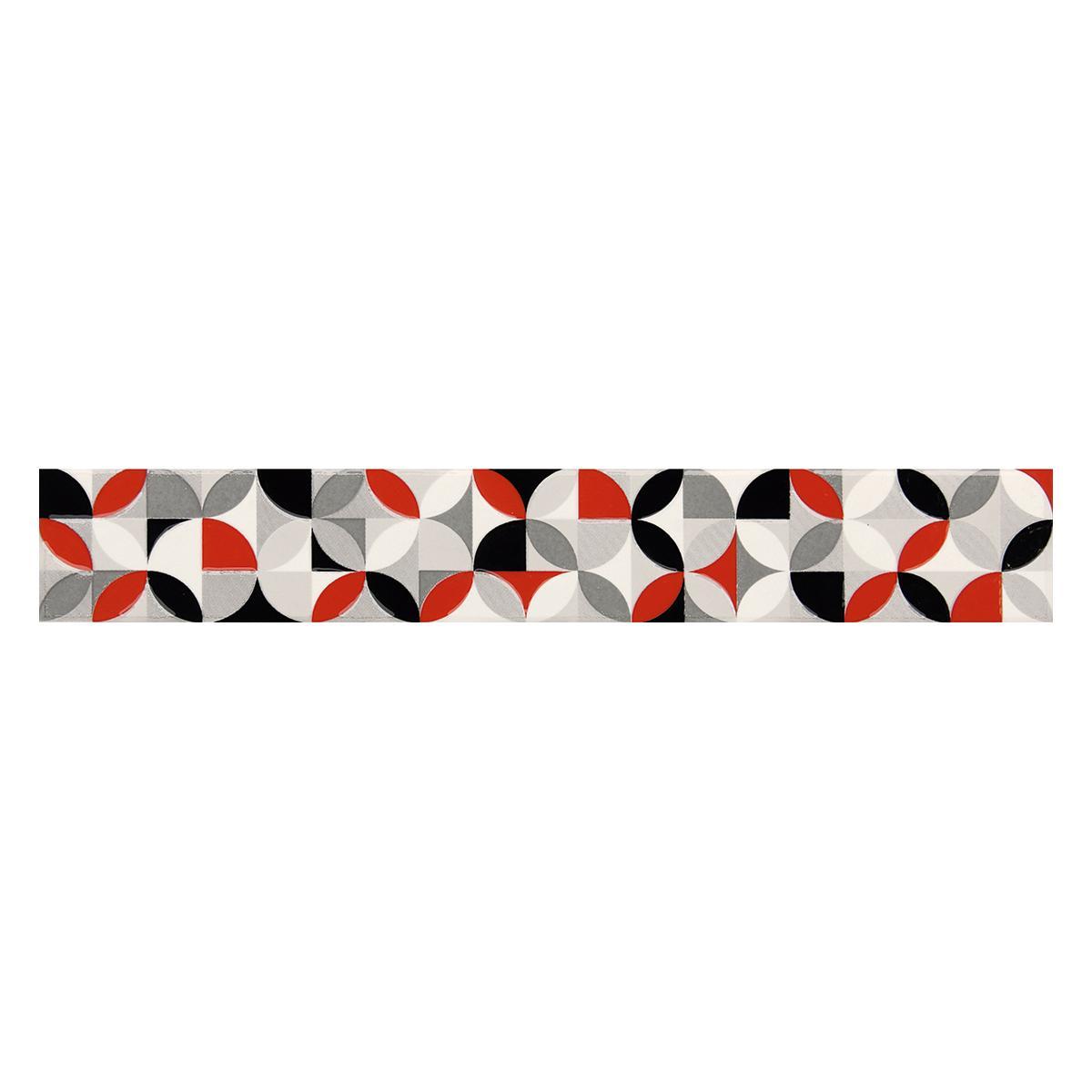 Listelo Decorado Multicolor Brillante - 6X39.5 cm - 1 pza
