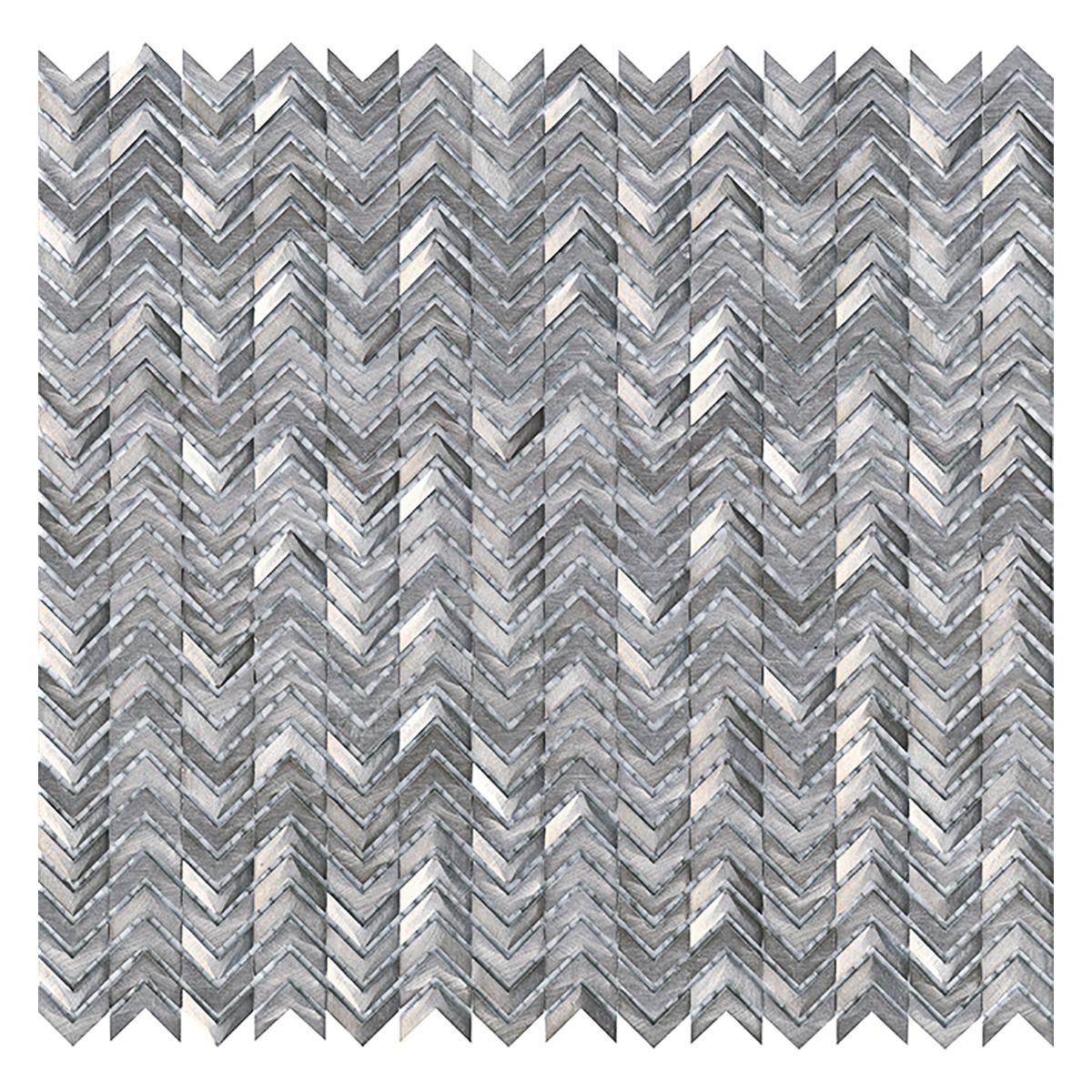 Mosaico Gravity Plateado Brillante - 29.8X30 cm - 1 pza