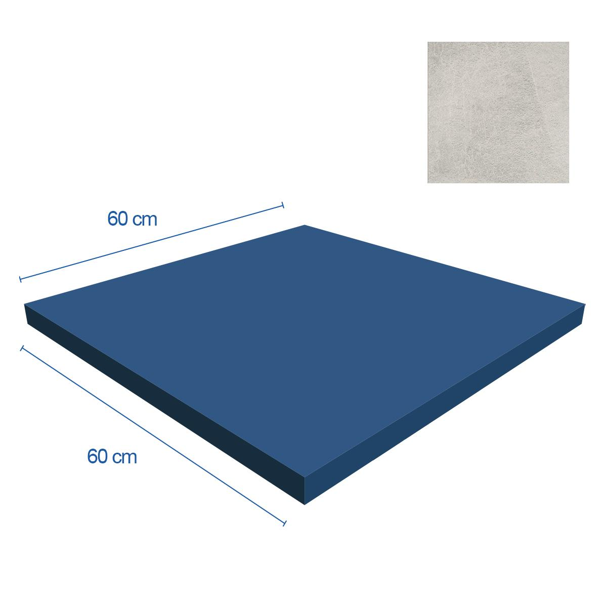 Porcelanato X Rock Blanco Mate - 60X60 cm - 1.08 m2