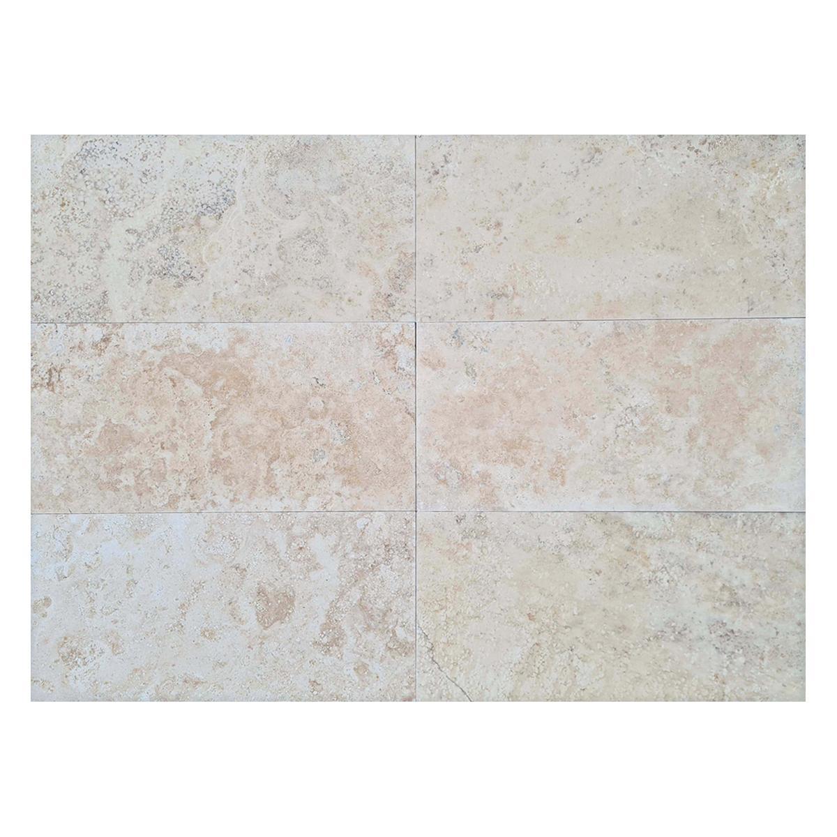 Mármol Travertino Paracas Crema Brillante - 30.5X60.9 cm - 1.11 m2