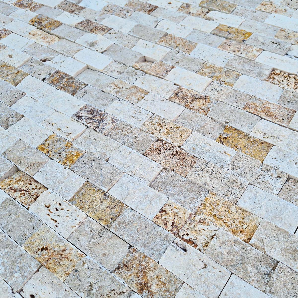 Spacatto Travertino Crema/Amarillo Mate - 30.5X30.5 cm - 0.56 m2
