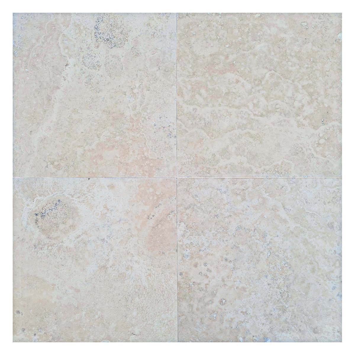 Mármol Travertino Paracas Crema Brillante - 60.9X60.9 cm - 1.11 m2
