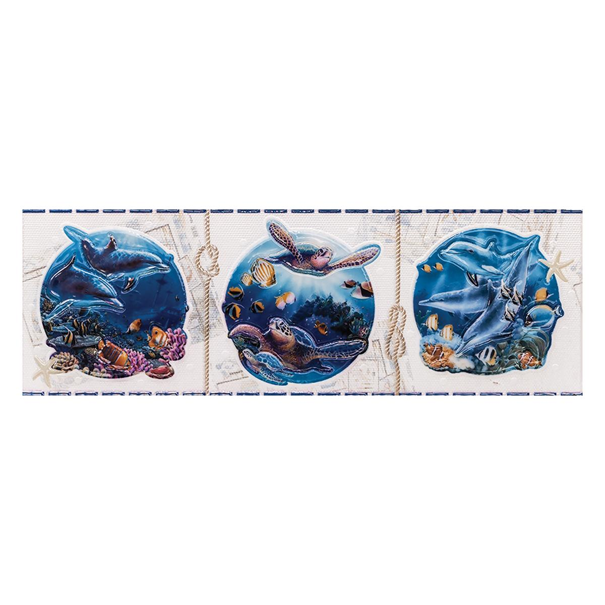 Listelo Marea Blanco Brillante - 45X15 cm - 1 pza