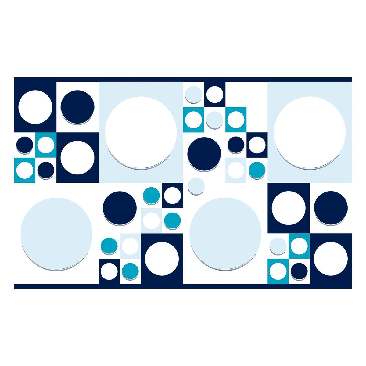 Inserto Decorado Azul Brillante - 25X40 cm - 1 pza