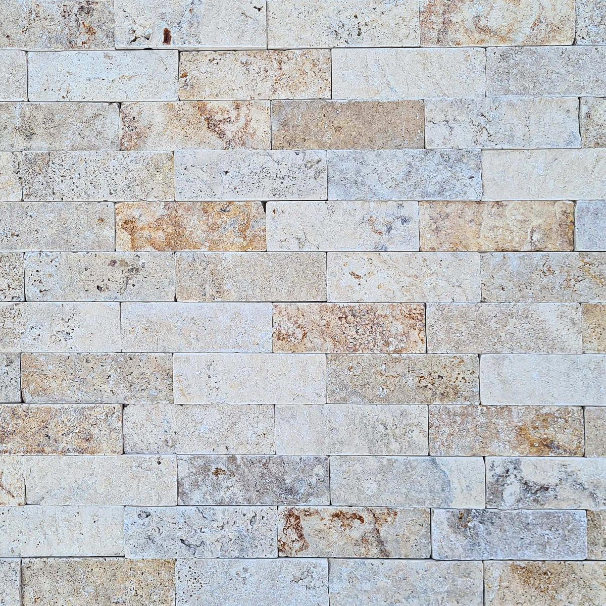 Spacatto Travertino Crema/Amarillo Mate - 5X15 cm - 0.54 m2