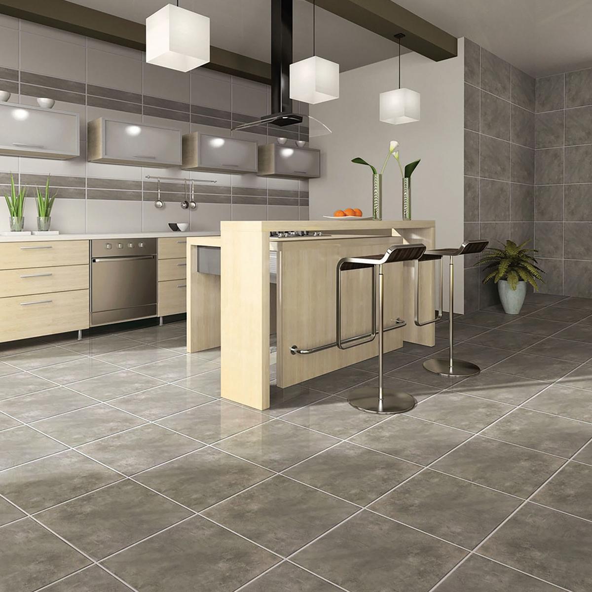 Piso Cemento Plus Gris Mate - 45X45 cm - 2.03 m2