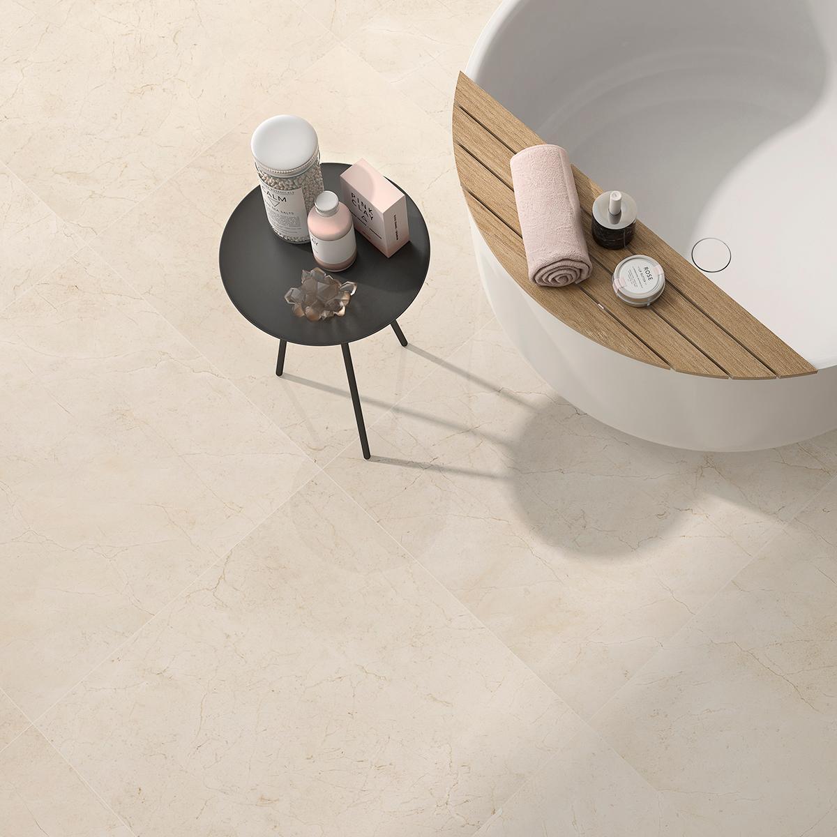Porcelanato Menhir Crema Brillante - 75X75 cm - 1.69 m2