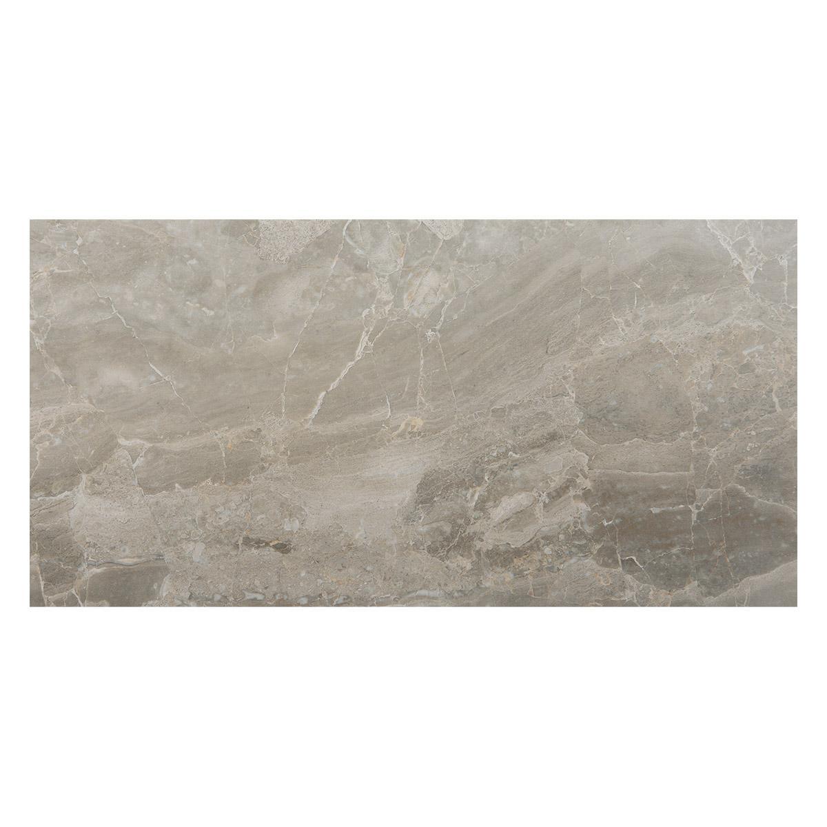 Porcelanato Brescia Silver Brillante - 60X120 cm - 1.44 m2