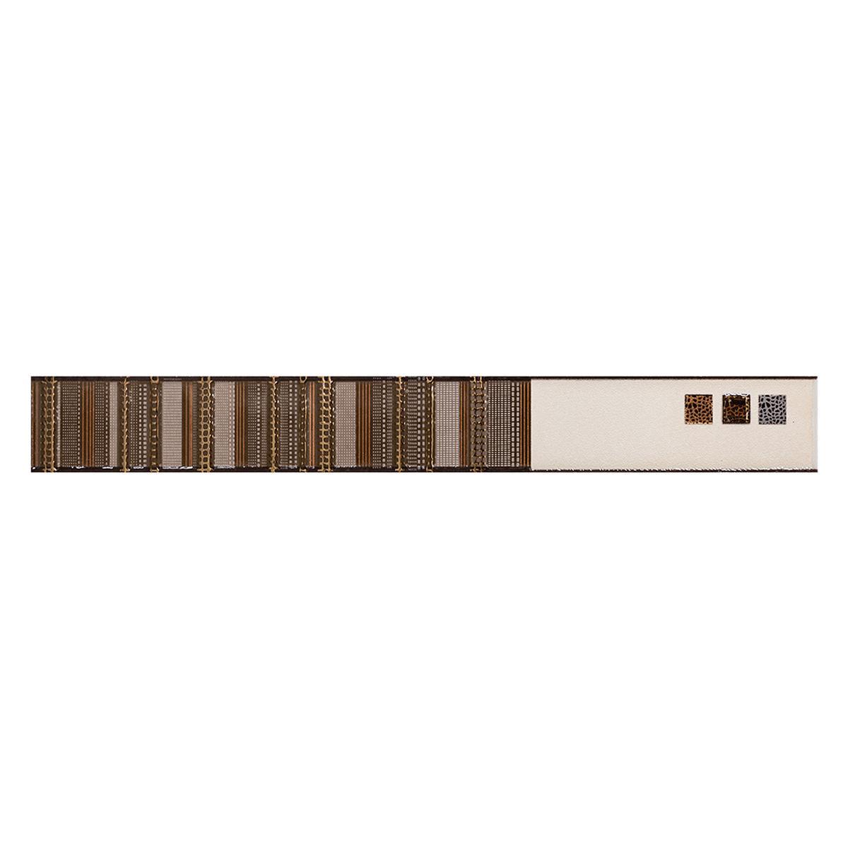 Listelo Egipto Beige Brillante/Mate - 4.7X40 cm - 1 pza