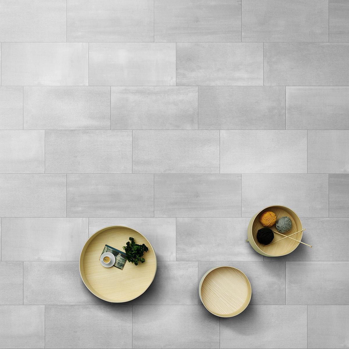 Porcelanato Zhi Gris Semi Brillante - 15X60 cm - 0.72 m2