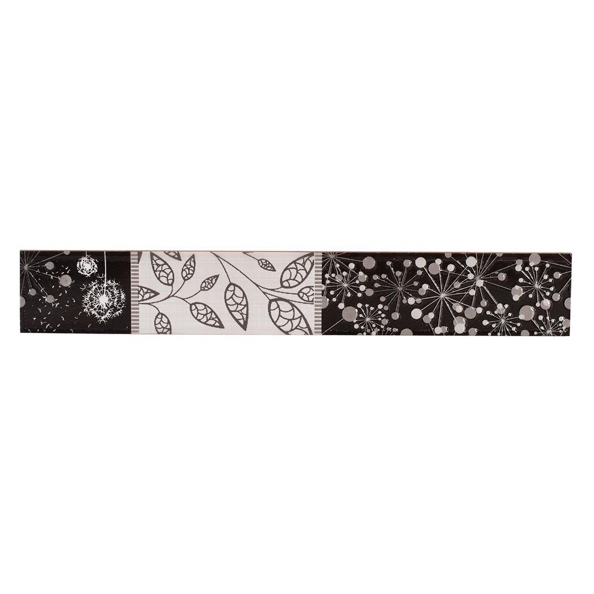 Listelo Decorado Negro Brillante - 6X39.5 cm - 1 pza