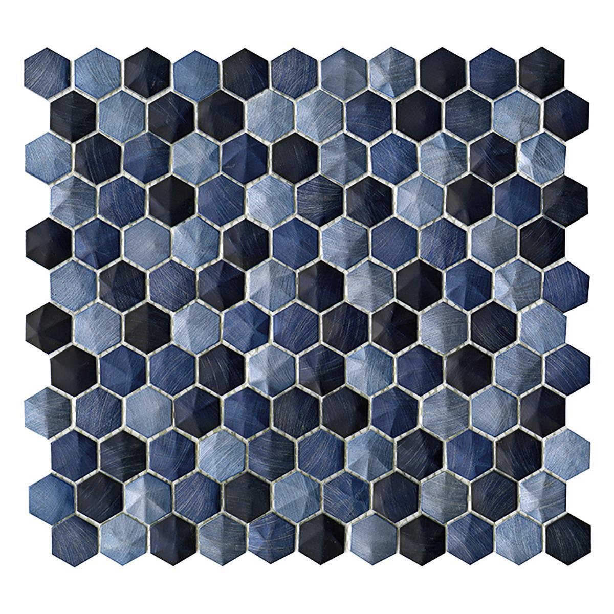 Mosaico Colors Azul/Celeste Mate - 28.5X30.5 cm - 1 pza