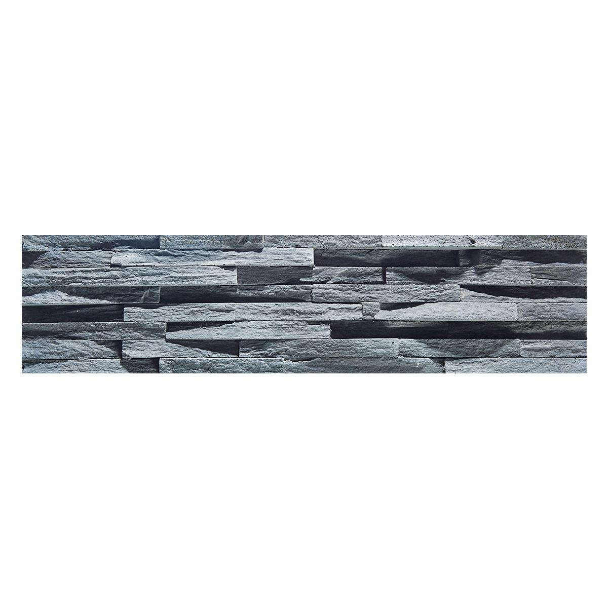 Piedra Decorativa Fachaleta Gris Mate - 15X60 cm - 0.36 m2