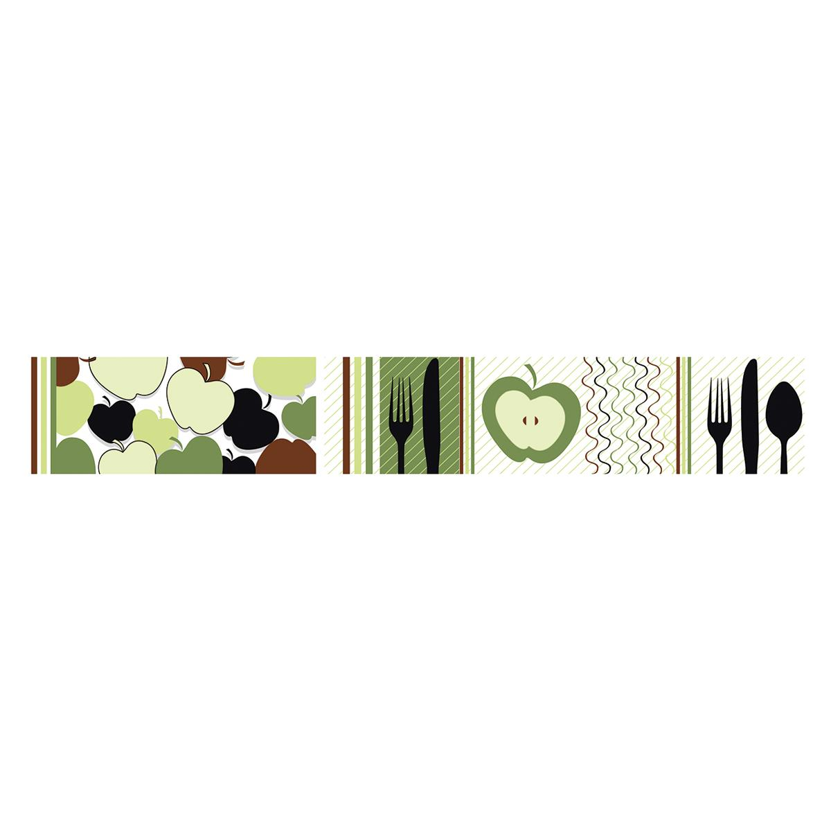 Listelo Elizabeth Verde Brillante - 6X39.5 cm - 1 pza