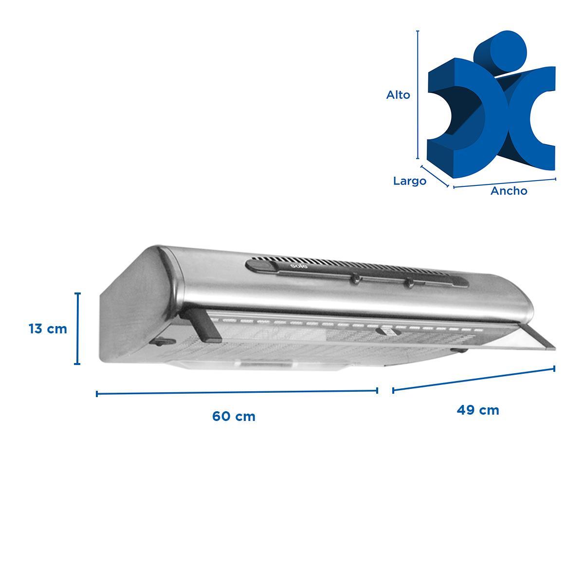 Campana Helena Lineal 60 cm - Acero