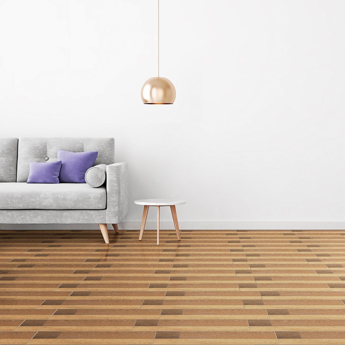 Piso Listones Beige Brillante - 20X60 cm - 1.44 m2