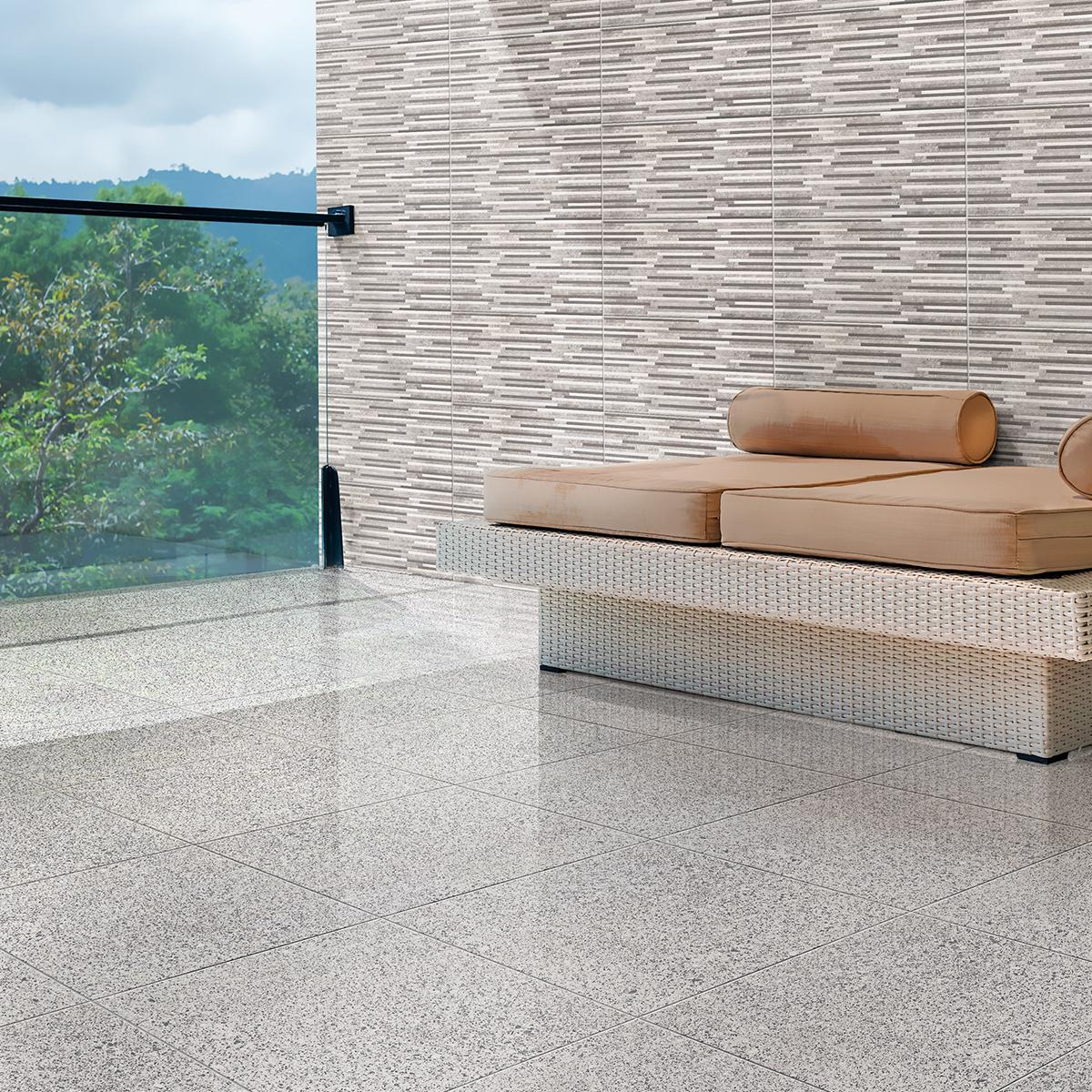 Piso Granito II Gris Brillante - 60X60 cm - 1.80 m2