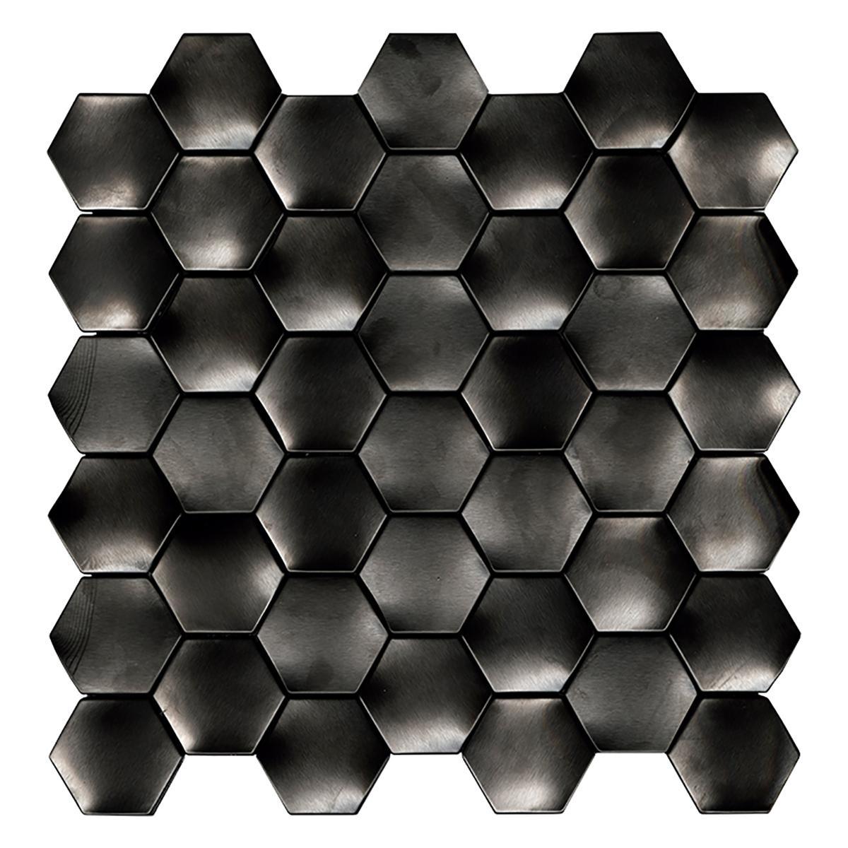 Mosaico Web Negro Brillante - 29.1X29.3 cm - 1 pza