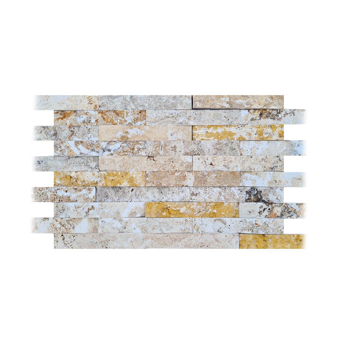 Spacatto Travertino Crema/Amarillo Mate - 5X30.5 cm - 0.45 m2