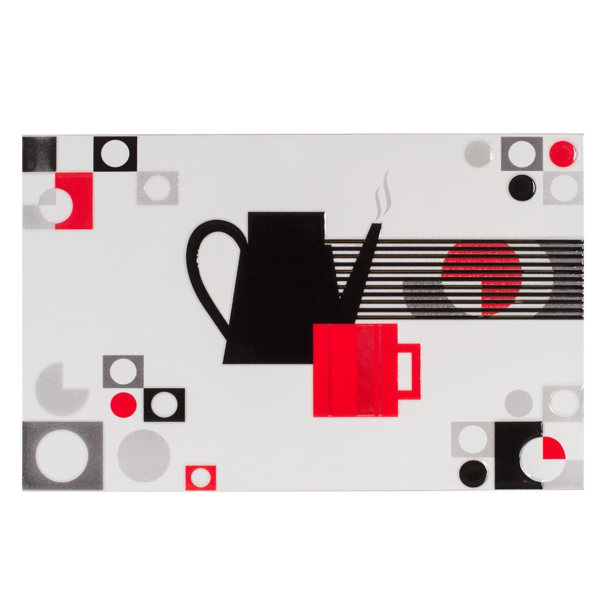 Inserto Decorado Rojo Brillante - 25X40 cm - 1 pza