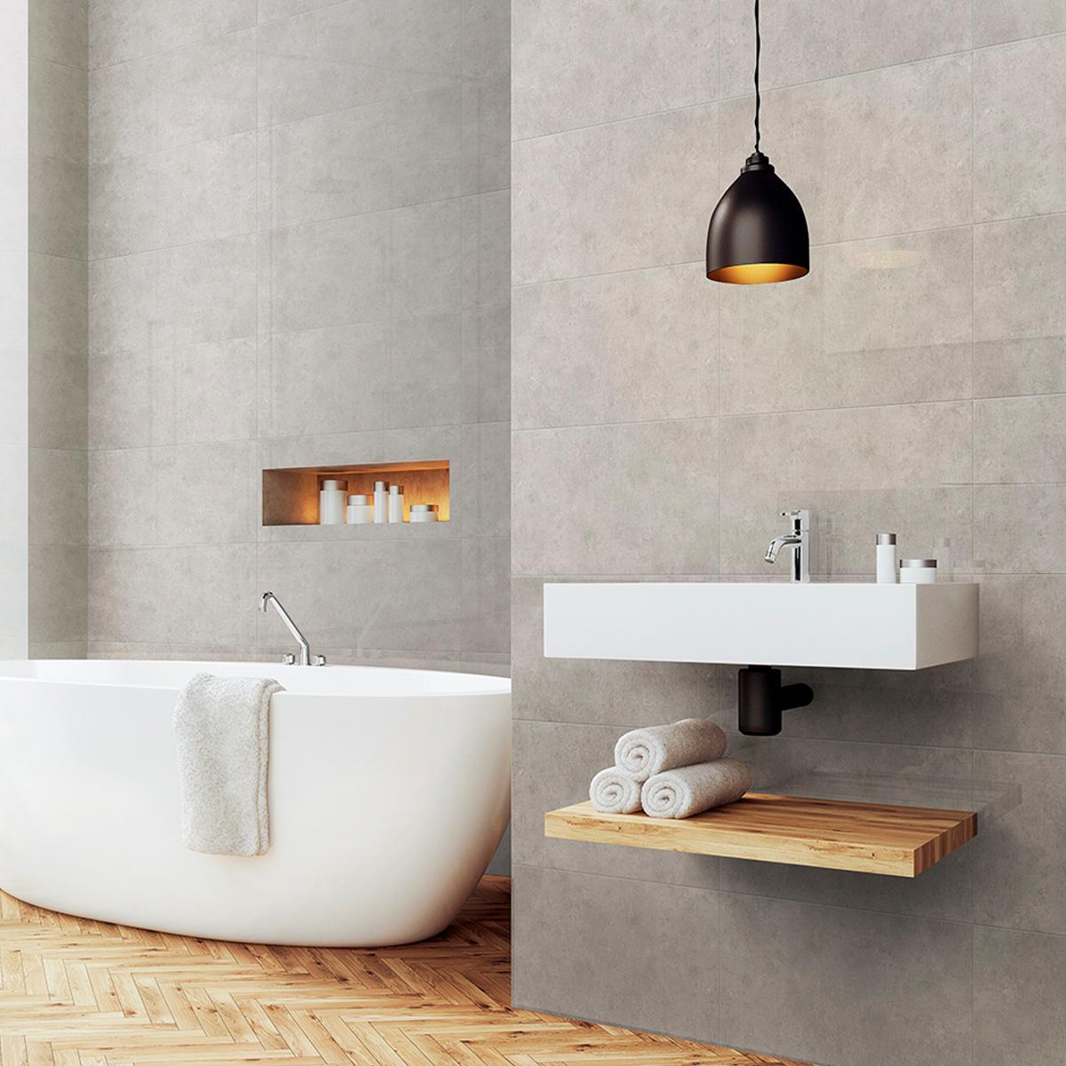 Mayólica Nimbus Gris Brillante - 30X60 cm - 1.44 m2