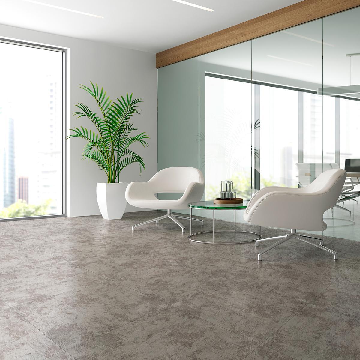 Porcelanato Potenza Gris Mate - 60X60 cm - 1.44 m2