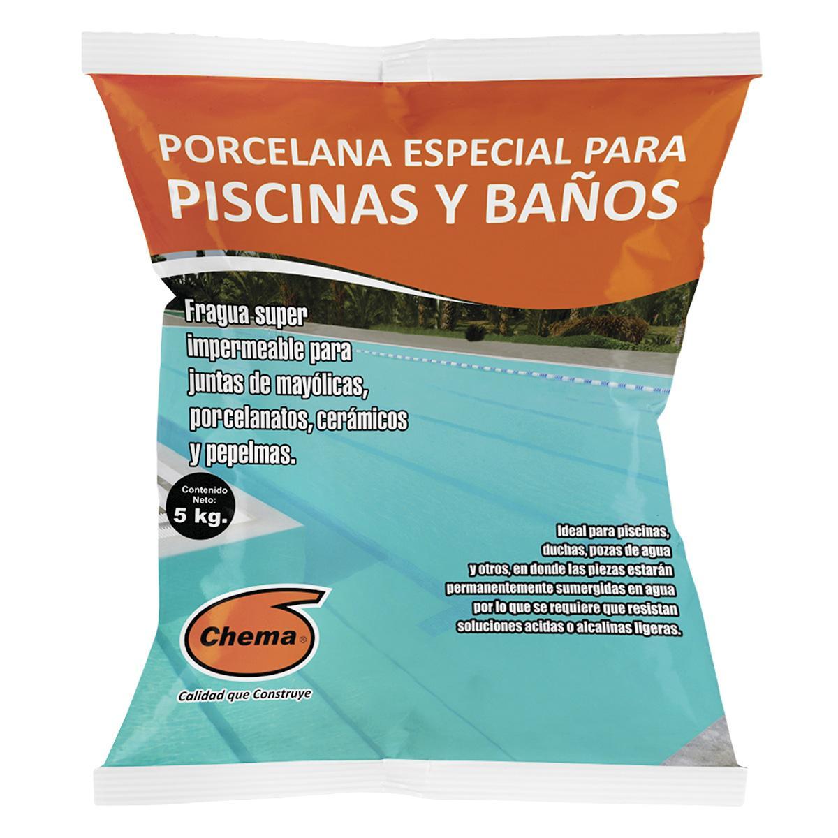 Fragua Porcelana Especial Para Piscinas Y Baños 5 KG - Agua Marina