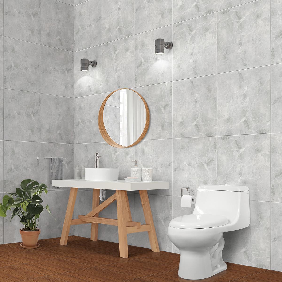 Piso Colonia II Gris Brillante - 60X60 cm - 1.80 m2