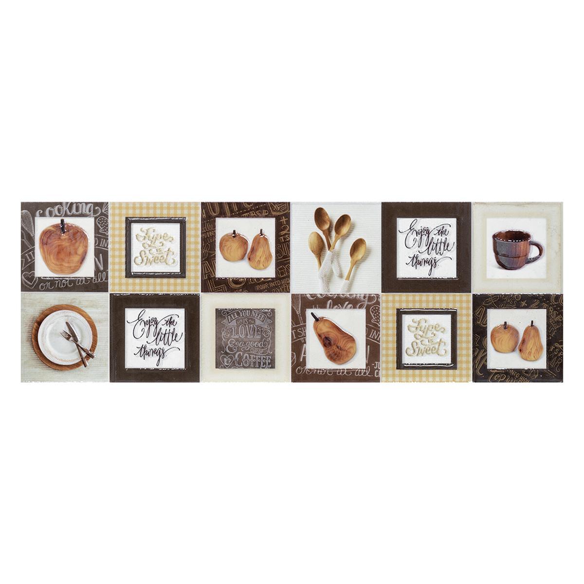 Listelo Cocoa Beige Brillante/Mate - 44.34X14.66 cm - 1 pza