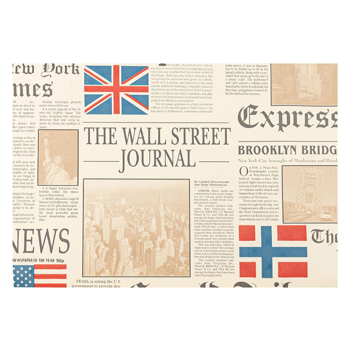 Papel Decorativo Wall Street Multicolor Mate - 53X1000 cm - 5.30 m2