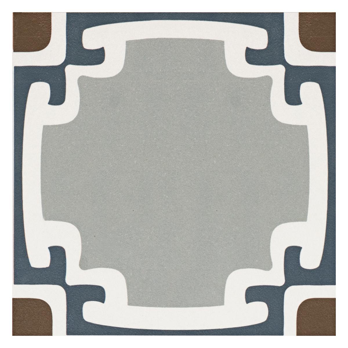 Porcelanato Be square Gris/Negro Mate - 20X20 cm - 0.68 m2