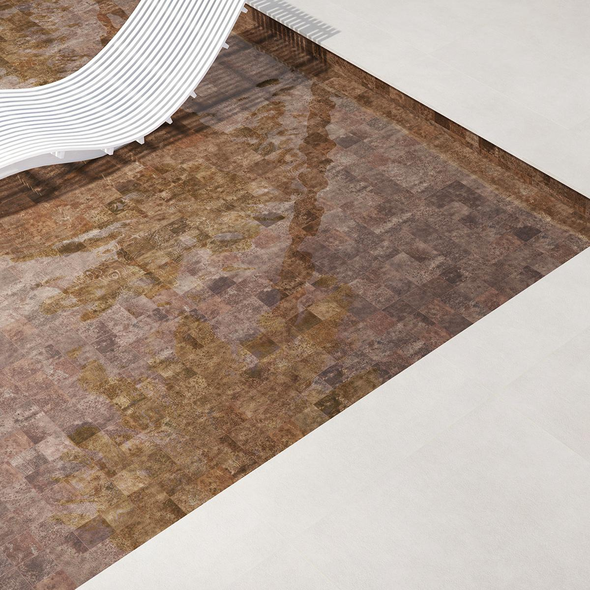 Gres Porcelánico Oxy Marrón Mate - 10X10 cm - 1.62 m2