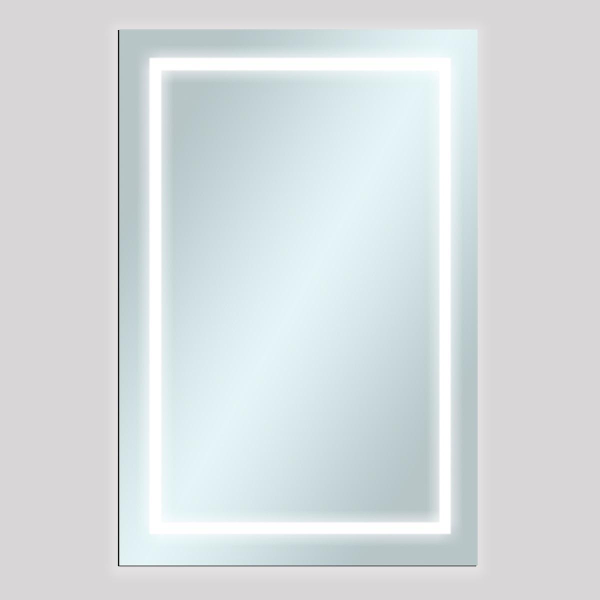 Espejo Square 3 Cristal Luz LED