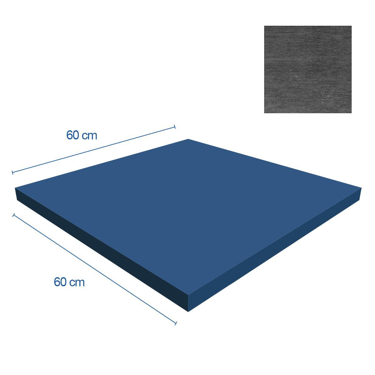 Porcelanato Cloth Gris Mate - 60X60 cm - 1.44 m2