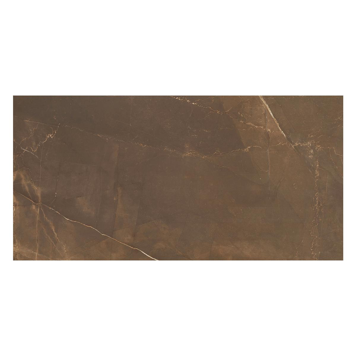 Porcelanato Pulpis Marrón Brillante - 59X118.2 cm - 1.39 m2