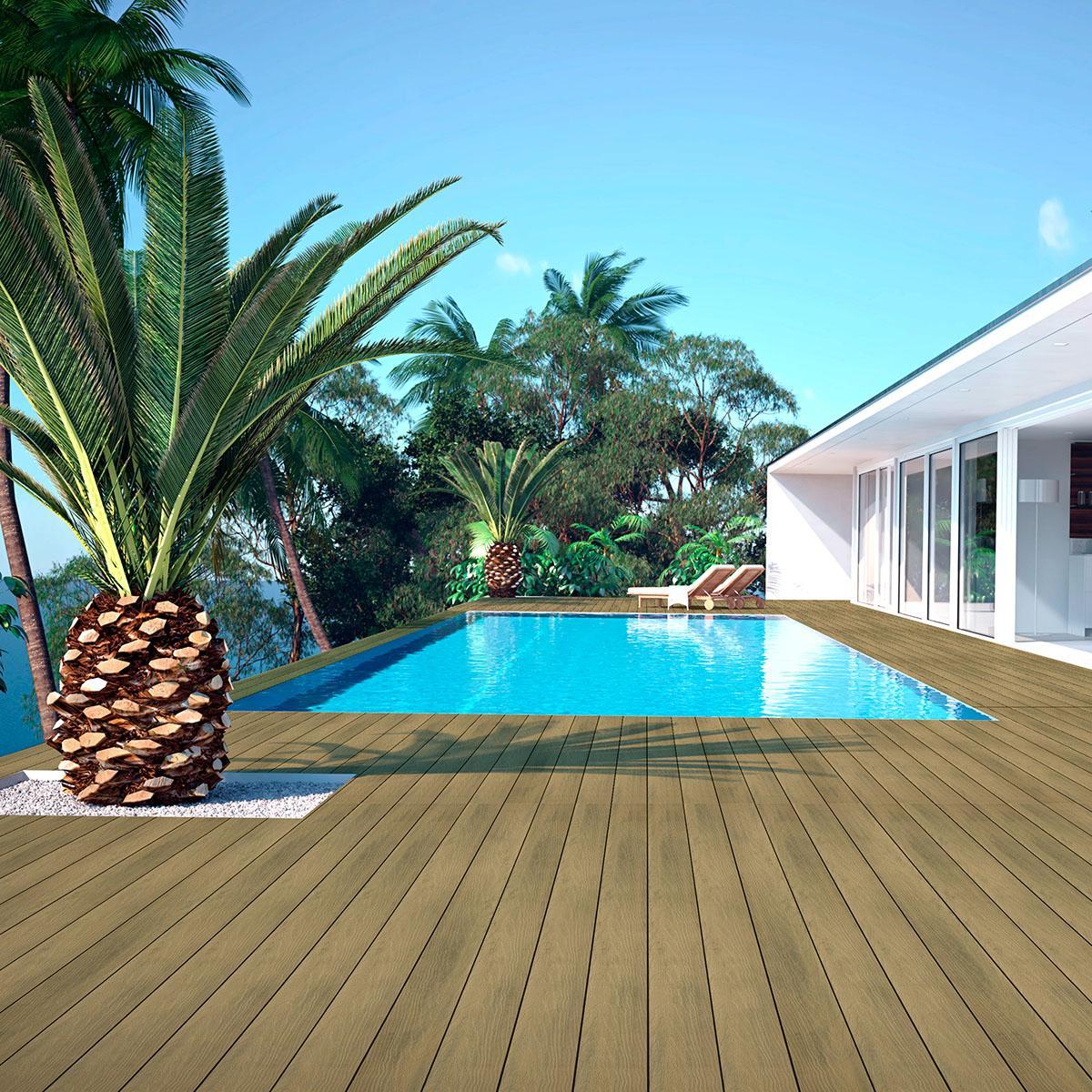 Piso Deck White Beige Mate - 14X290 - 0.42 m2
