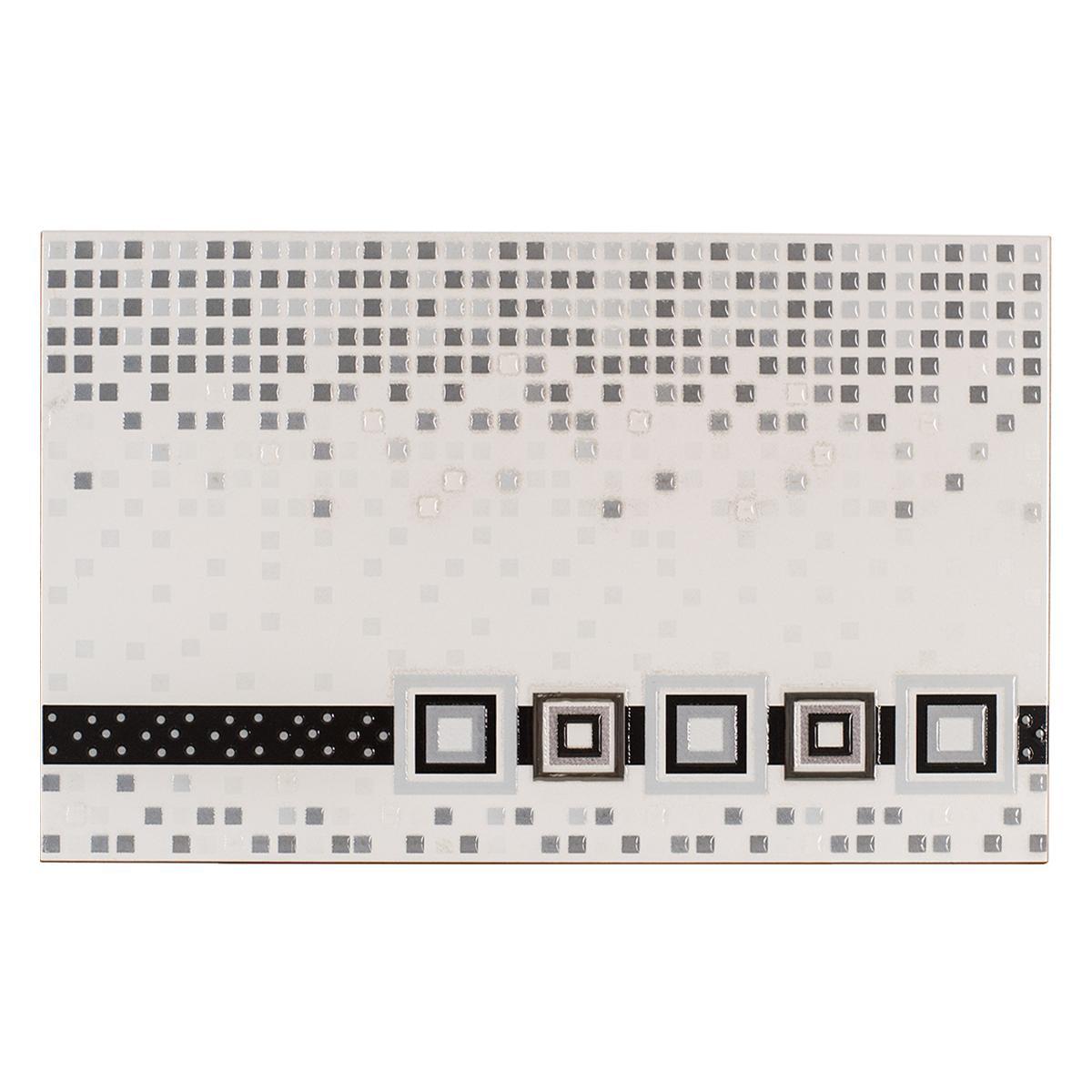Inserto Decorado Negro Brillante - 25X40 cm - 1 pza